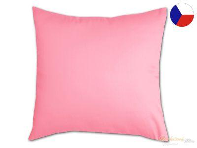 Bavlněný povlak na polštář Jednobarevný růžový 35x45 35b25b371c