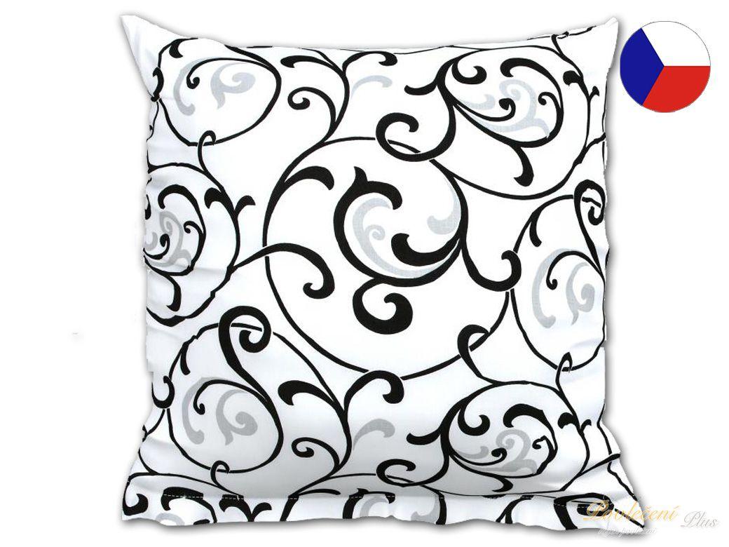0d1f4c4c803e Povlak na polštář bavlna Sabina černobílá 50x50